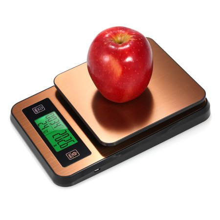 Digital Coffee Scale Multifunction Kitchen Food Scale with Timer Temperature Probe LCD Display Green Backlight 3000g/1g - image 2 of 7