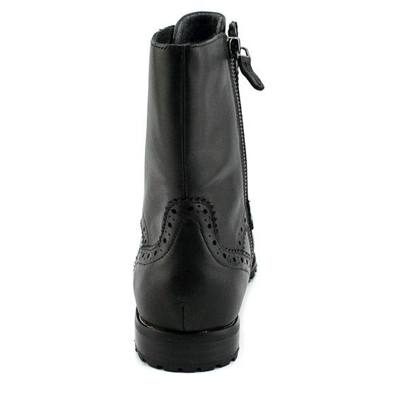d231cbbcfcfb66 Sudini - Sudini Felicia Women Round Toe Leather Black Ankle Boot -  Walmart.com