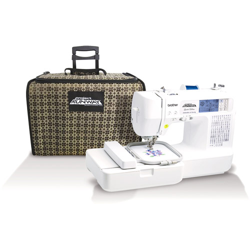 Brother Project Runway Computerized Sewing Embroidery Machine with Tote, LB6800PRW Mail-In Rebate Available