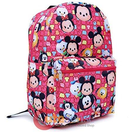 d92e9b26fc TSUM TSUM - School Backpack 16in All Over Print Large Book Bag Pink -  Walmart.com