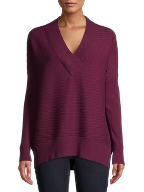 Time and Tru Women's V-Neck Sweater
