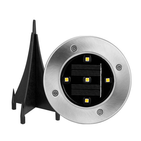 1PC LED Ground Lights Waterproof Lawn Lamp 5LEDs Solar Light Pathway In-Ground Lights Outdoor Water-resistant Landscape Spike Lighting Underground Spotlight for Pathway White - image 4 de 7