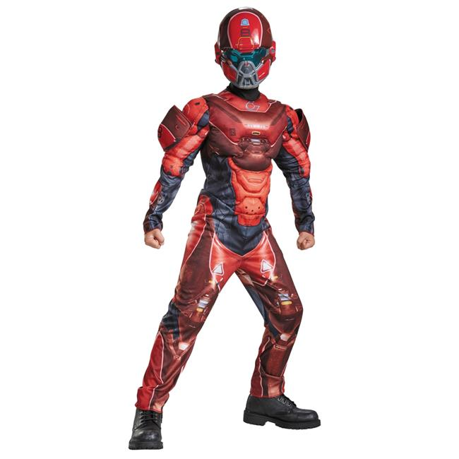 Morris Costumes DG97542G Red Spartan Muscle Child Costume, Size 10-12 - image 1 of 1