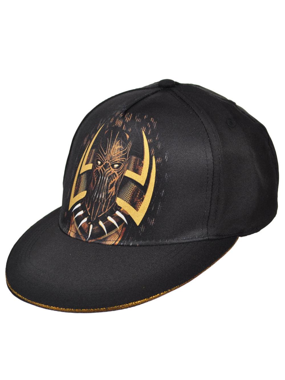 buy popular 6256f 016c8 Marvel Black Panther Snapback Cap (Youth One Size) - Walmart.com