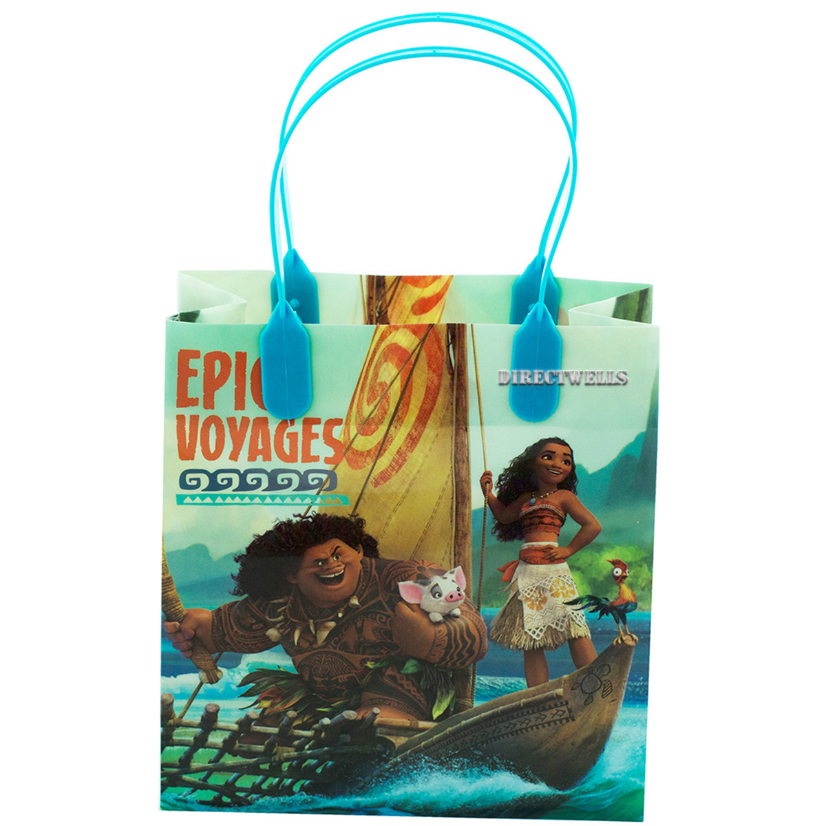 Moana And Maui 12 Authentic Licensed Party Favor Reusable Small Goodie Gift Bags 6