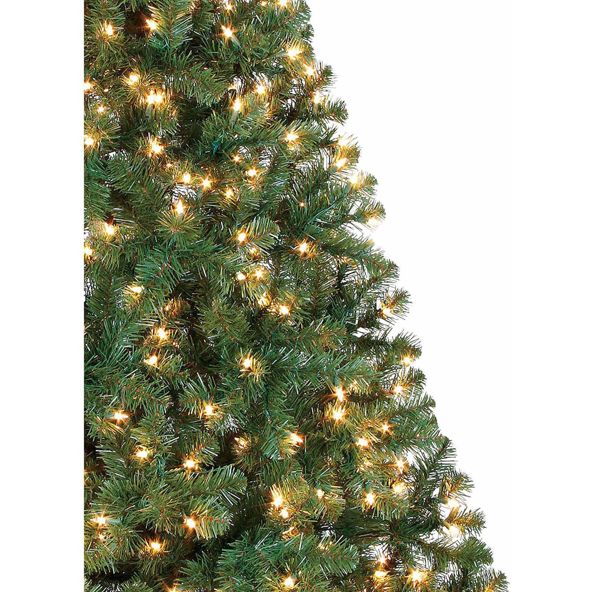 holiday time prelit 65u0027 madison pine artificial christmas tree greenclear lights walmartcom