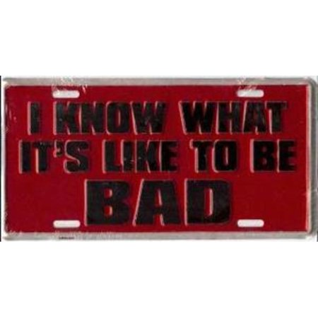 I Know How To Be Bad License Plate - image 2 de 2