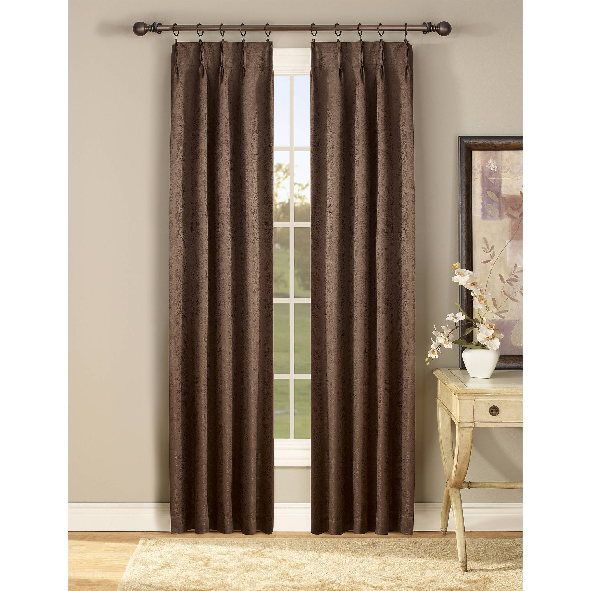 Gabrielle Pinch Pleated Energy Efficient Curtain Panel Pair