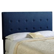 Humble and Haute Humble + Haute Prescott Navy Blue Upholstered Tufted Headboard