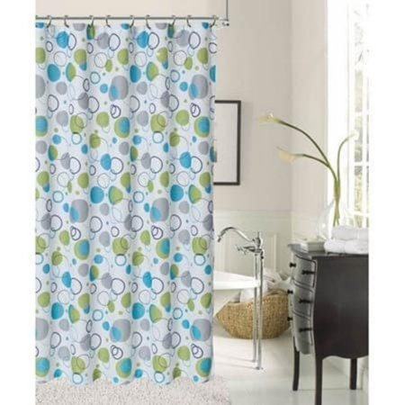 - Dainty Home Bubbles Printed Fabric Shower Curtain