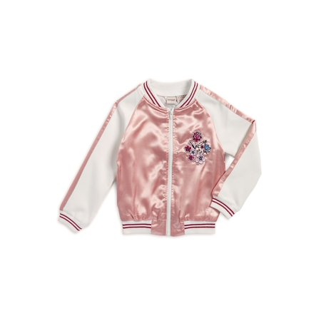 Marc New York Quilted Jacket - Girl's Embroidered Sweat Jacket