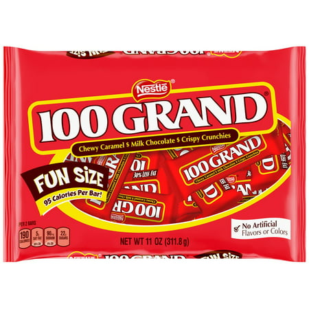 100 Grand Candy Bars  Fun Size  11 Oz