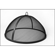 """48"""" Welded Hi Grade Carbon Steel Lift Off Dome Fire Pit Safety Screen"""
