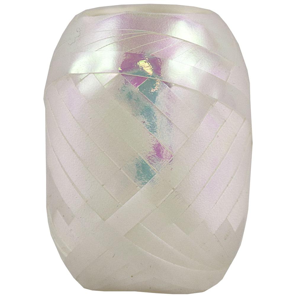 JAM Paper Curling Ribbon, 66 ft., White Ribbon Egg, 100/pack