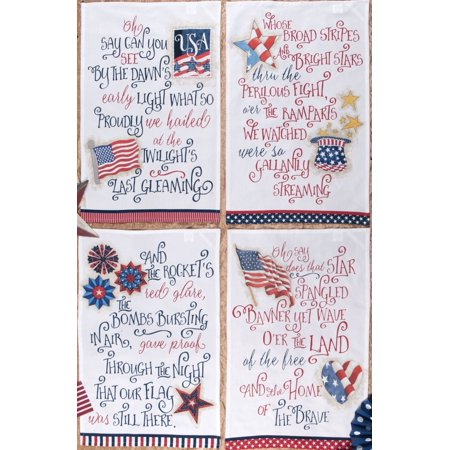 Star Spangled Banner Patriotic Red White And Blue Kitchen