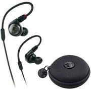 Audio-Technica ATH-E40 E-Series Professional in-Ear Monitor Headphones with a SLAPPA SL-HP-09 HardBody Earbud Case (Black)