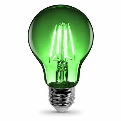 BULB LED A19 E26 4.5W CLR GRN