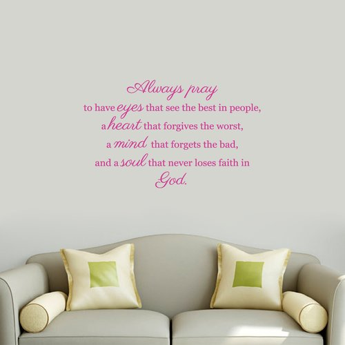 Sweetums Wall Decals Always Pray Wall Decal