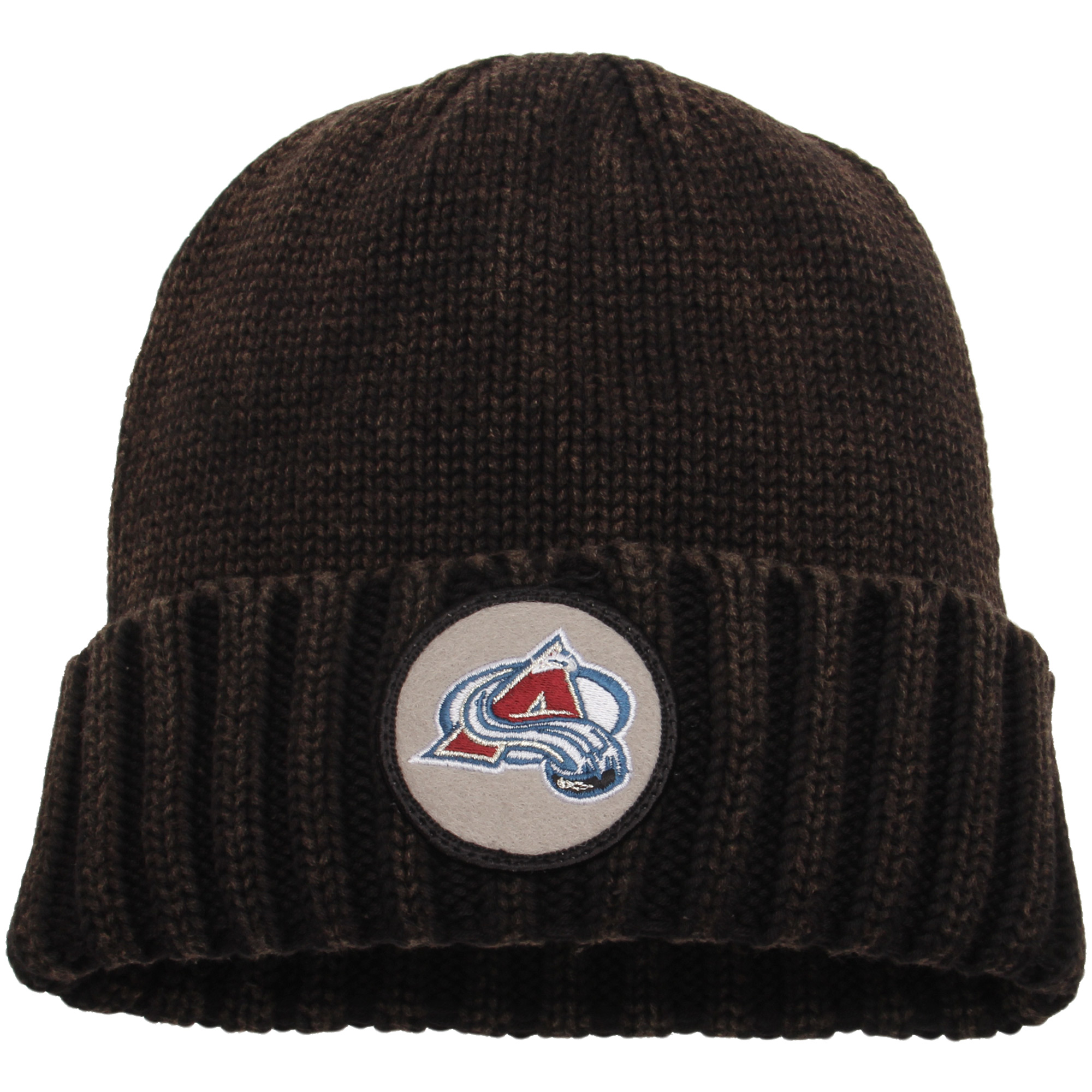 Colorado Avalanche Mitchell & Ness Current Logo Ribbed Cuffed Knit Hat - Brown - OSFA