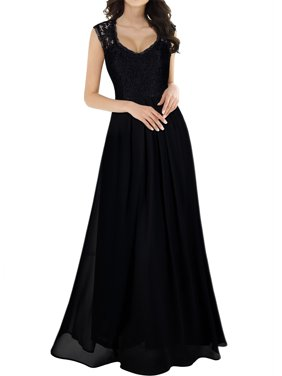 7f94b38264e008 Product Image MIUSOL Women s Casual Deep V Neck Sleeveless Vintage Chiffon  Maxi Dresses for Women