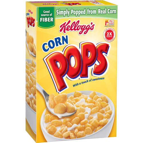 Kellogg's Corn Pops Crunchy Sweet Cereal, 12.5 ounce box