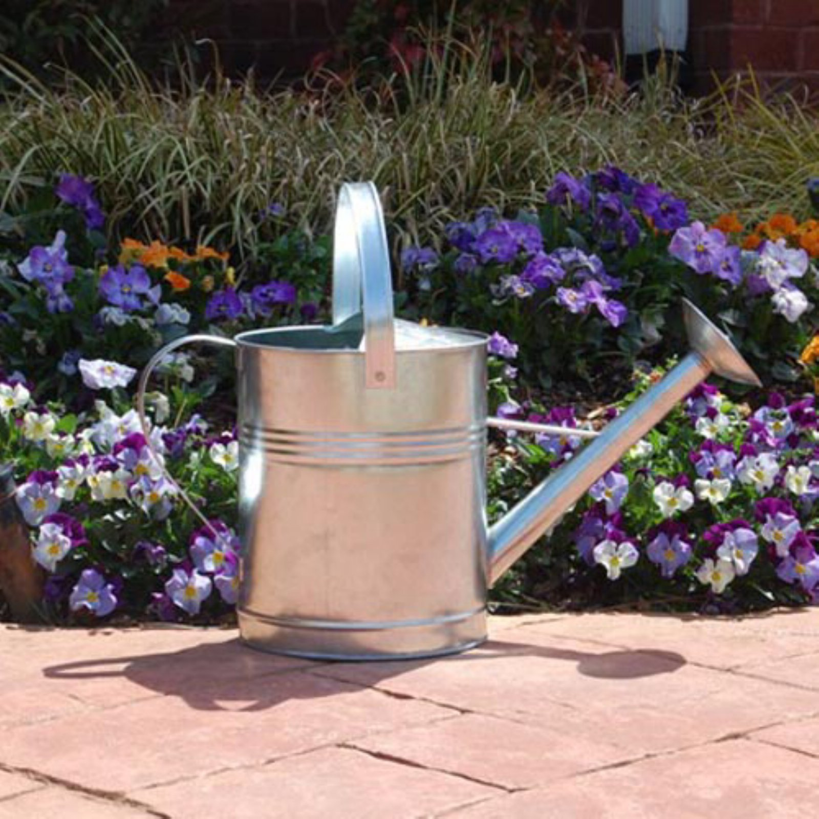 Austram-Griffith Creek Designs Galvanized Steel Silver Watering Can by Austram Inc