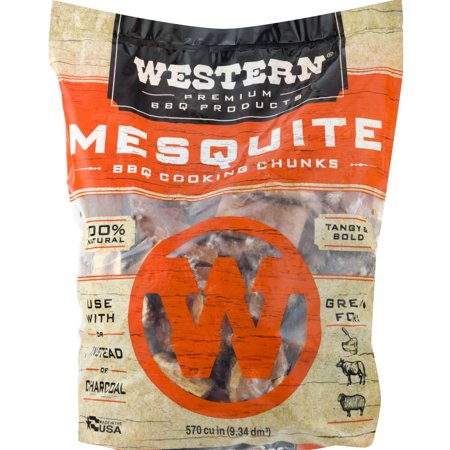 Western Premium BBQ Products Mesquite BBQ Cooking Chunks, 570 cu - Carnelian Chunks