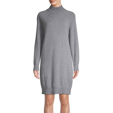 Long Sleeve Turtleneck Cashmere Dress