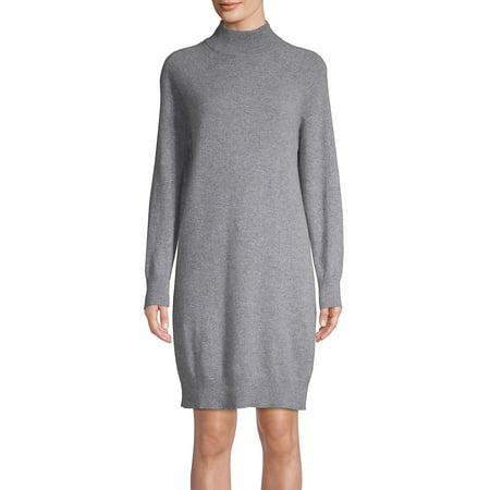 Long Sleeve Turtleneck Cashmere Dress - Medieval Clothing