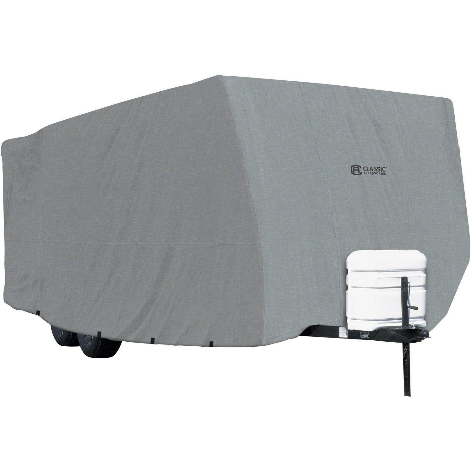 Classic Accessories OverDrive PolyPRO 1 Travel Trailer RV Cover, Fits 20' - 38' RVs - Breathable and Water Repellant Travel Trailer Cover