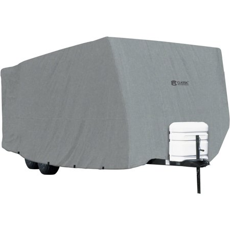 (Classic Accessories OverDrive PolyPRO 1 Travel Trailer RV Cover, Fits 20' - 38' RVs - Breathable and Water Repellant Travel Trailer Cover)