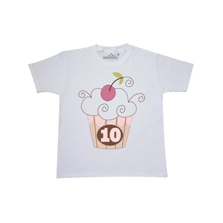 Cupcake 10th Birthday 10 Year Old Youth T-Shirt