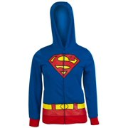 DC Comics: Supergirl Logo Juniors Blue Medium (M) Hoodie by Bioworld