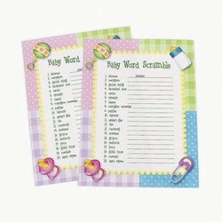 Scramble Word Game (Fun Express Baby Word Scramble Baby Shower Game - 24)