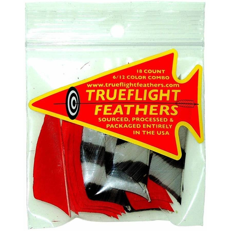 "Trueflight Feather Combo Pack, Barred, 2"", RW Shield Cut"