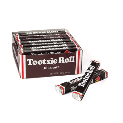 Tootsie Roll Bar: 36 Count
