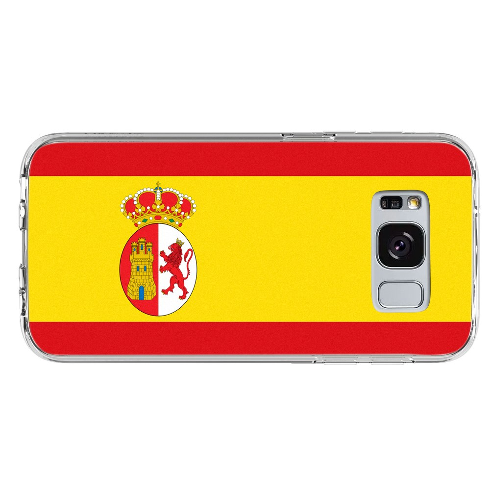 Spain Spanish Flag Samsung Galaxy S8 Plus Phone Case by Mad Marble