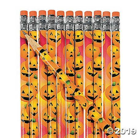 24 Wooden Halloween Pumpkin Pencils](Halloween Wooden Yard Patterns)