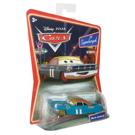 Disney Pixar World of Cars Movie Mario Andretti Supercharged Toy Car #11 - Disney Cars Movie