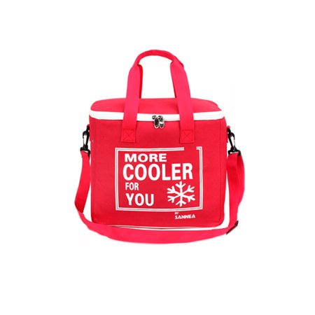 6L Portable Waterproof Insulated Lunch Box Light-weight Outdoor Picnic Food Bag Cold Thermal Storage Box -Red