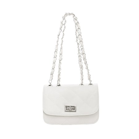 Lady Argly Design Iterior Pocket Fully Lined Shoulder Bag  Bag White
