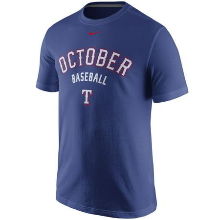 Texas Rangers Nike 2015 Playoff October Baseball T-Shirt - Royal