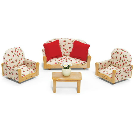 Bedroom Set Calico Critters Furniture (Calico Critters Living Room Suite)