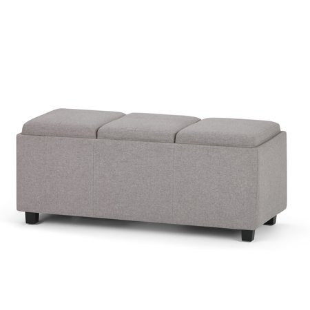 Pleasant Brooklyn Max Lincoln 42 Inch Contemporary Storage Ottoman Creativecarmelina Interior Chair Design Creativecarmelinacom