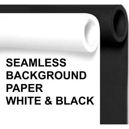 Background Paper Rolls (Seamless Photo Background Paper Rolls Black and White, 53 Inches Wide x 36 Feet Long, 2)