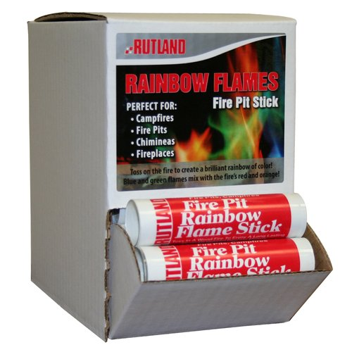 Rutland 715C Rainbow Flame Stick - 36 Piece