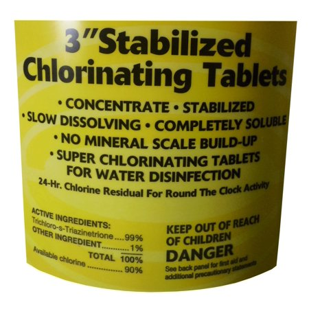 """500 lbs Bucket 3"""" Swimming Pool/Spa Commercial Grade Stabilized Chlorine Tablets"""