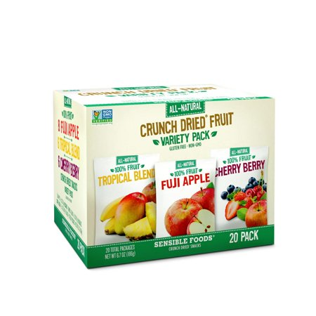 Product Of Sensible Foods Crunch Dried Fruit Variety Pack (0.34 Oz., 20 Ct.) - For Vending Machine, Schools , parties, Retail (Best Way To Store Dried Fruit)