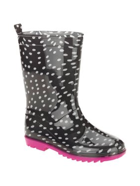 One Color Dots Printed Girls' Jelly Rain Boots
