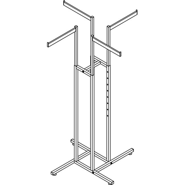 4-Way with Straight Arms Rectangular Tubing - image 1 de 1